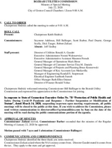 Icon of Bozrah Utility Commission Meeting Minutes 07-22-2020