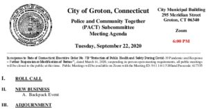 Icon of PACT Subcommittee Agenda 9-22-20