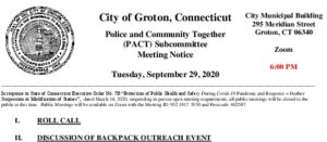 Icon of PACT Subcommittee Agenda 9-29-20