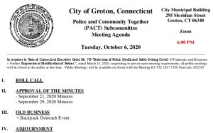 Icon of PACT Subcommittee Agenda 10-6-20