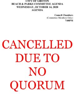 Beach And Parks Comm Agenda Cancelled Oct 2020
