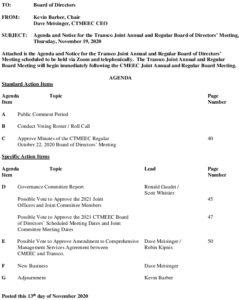 Transco Reg And Annual BOD Agenda 11-19-2020