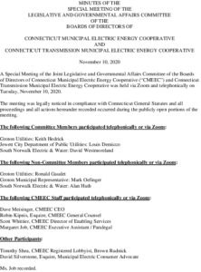 Icon of CMEEC Legislative And Gov Affairs Committee Minutes 11-10-2020