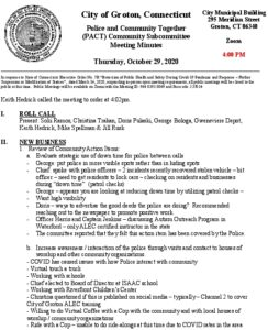 Icon of PACT Community Subcommittee Minutes 10-29-20