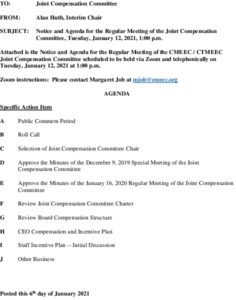 Icon of Joint Compensation Committee Agenda 01-12-2021