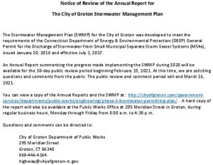 Icon of Notice Of Review - Stormwater Management Plan Annual Report - 2020