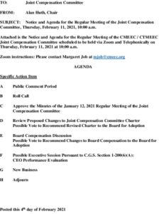 Joint Compensation Committee Agenda 02-11-2021