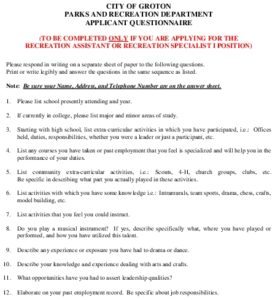 Icon of 2021 City Of Groton - Applicant Questionnaire - 2-9-2021