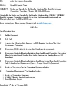 Icon of CMEEC Governance Committee Agenda 02-18-2021