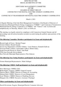 Icon of CMEEC Joint Risk Management Committee Minutes 03-04-2021