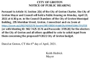 Icon of Budget - Public Hearing 4-19-21
