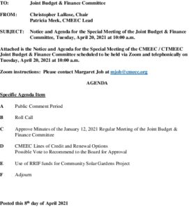 Icon of Special CMEEC Joint Budget And Finance Committee Agenda 04-20-2021