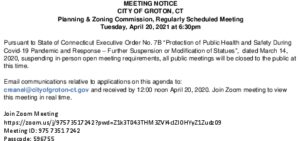 Icon of P&Z Hearing Notice 4-20-21