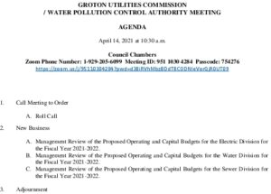 Icon of GUC-WPCA Budget Meeting Agenda 04142021