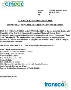 Icon of Joint Audit Committee Meeting Notice Of Cancellation Of 05-06-2021 Meeting 04-19-2021
