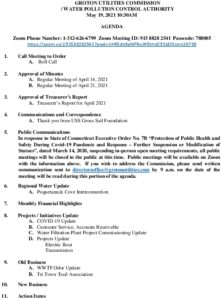 Icon of GUC-WPCA Meeting Agenda May 19, 2021