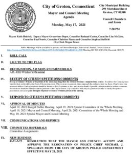 Icon of Mayor And Council Agenda 05-17-21