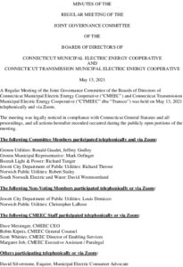 Icon of Joint Governance Committee Minutes 05-13-2021