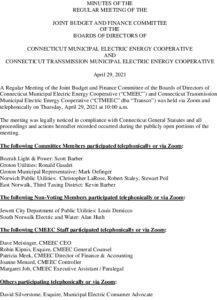 Icon of Joint Budget Finance Committee Minutes 04-29-2021
