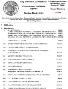 Icon of Committee Of The Whole 05-24-21 Agenda