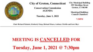 Icon of Conservation Commission 06-01-21 Cancellation Notice