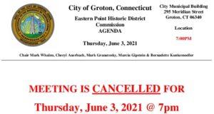 EPHDC 06-03-21 Cancellation Notice
