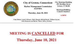 Harbor Management Commission 06-10-21 Cancellation