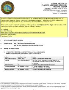 Icon of Planning & Zoning Commission 06-15-21 Agenda DRAFT