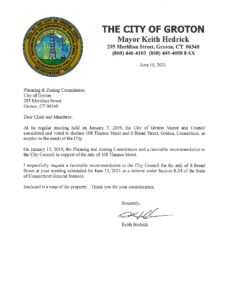 Icon of Planning And Zoning 8-24 Letter - 108 Thames St And 0 Broad Street