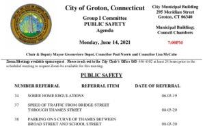 Group I - Public Safety Agenda 06-14-21