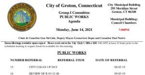 Group I - Public Works Agenda 06-14-21