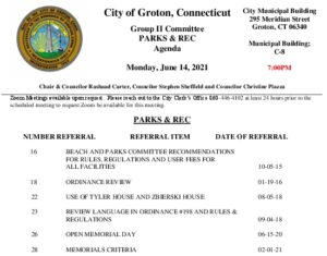 Icon of Group II - Parks & Recreation Agenda 06-14-21