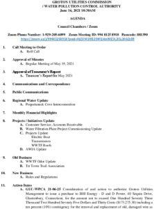 Icon of GUC-WPCA Meeting Agenda June 16, 2021