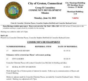 Icon of Group II - Community Development Minutes 06-14-21