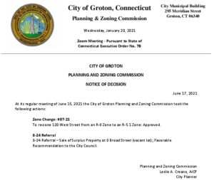 Icon of Notice Of Decision - Planning & Zoning 06-15-21 Meeting