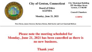 Icon of Board Of Ethics 06-21-21 Cancellation