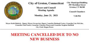 Icon of Mayor And Council Meeting Cancellation 06-21-21