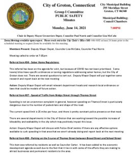 Icon of Group I - Public Safety Minutes 06-14-21