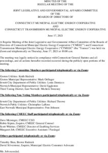 Icon of CMEEC Legislative And Governmental Affairs Committee Minutes 06-17-2021