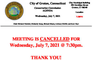 Icon of Conservation Commission 07-07-21 Cancellation Notice