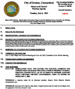 Icon of Mayor And Council Agenda 07-06-21
