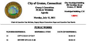 Icon of Group I - Public Works Agenda 07-12-21