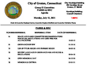 Icon of Group II - Parks & Recreation Agenda 07-12-21