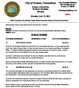 Icon of Group I - Public Works Minutes 07-12-21
