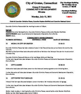 Icon of Group II - Community Development Minutes 07-12-21