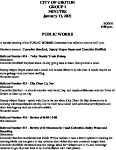 Icon of Group I - Public Works Minutes 01-11-21