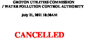Icon of CANCELLED GUC-WPCA Meeting Agenda July 21, 2021