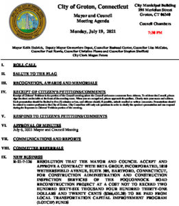 Icon of Mayor And Council Agenda 07-19-21
