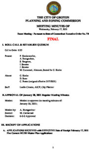 Icon of Planning & Zoning Commission Minutes 02-17-21 FINAL