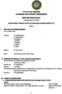 Icon of Planning & Zoning Commission Minutes 03-16-21 FINAL